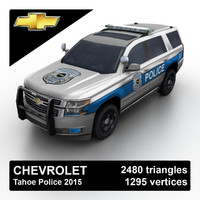 3d model of 2015 chevrolet tahoe police suv