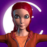 3d model cartoon female