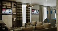 living room interior 3d max
