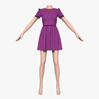 3ds cloth female mannequin