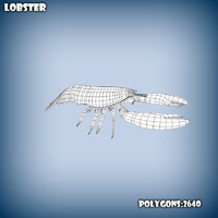 base mesh lobster 3d model