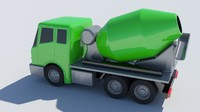 3d model toy concrete mixer