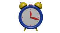 3d cute cartoon clock