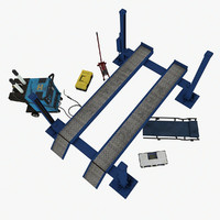garage equipments kit 3d model