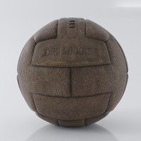 3d model vintage soccer ball