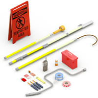 electrician tools box 3d 3ds