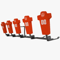 3d model football dummy training