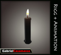 3d model of candle flame