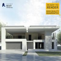modern villa 3d fbx