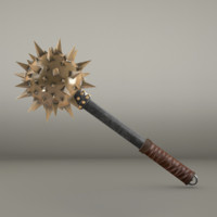 3ds medieval mace ready -