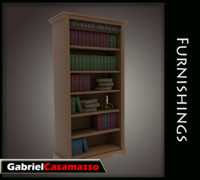 3d complete bookcase model