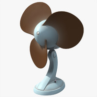 deco fan 3d obj