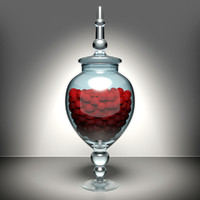 glass jar 3d 3ds