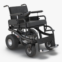 3d model powered wheelchair