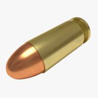 3d model cartridge 45 acp