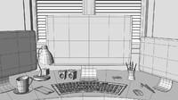 free office props 3d model