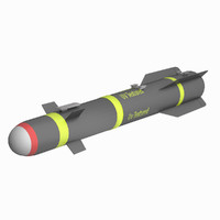 AGM-114 Hellfire missile (low poly, unwrapped, textured)