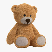 3d model teddy bear lights