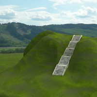 3d long stairs model
