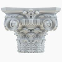 3d model column capital