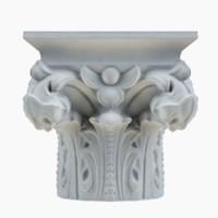 3d model of column capital