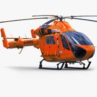 3d model md902 explorer aircraft
