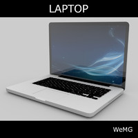 realistic laptop 3d model
