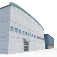 3d model headquarter office building