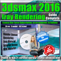 Corso 3ds max 2016 Iray Rendering Guida Completa  Locked Subscription, un Computer.