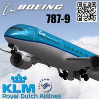 3ds boeing 787-9 klm airlines