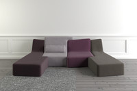 3d ligne roset confluences sofa seat model