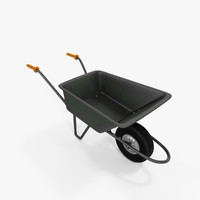 3d wheelbarrow model