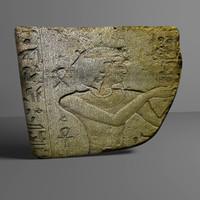 3d model egyptian stone 1