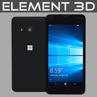 realistic microsoft lumia 550 3d 3ds
