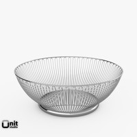 3d model wire basket alessi