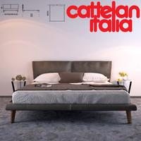 adam bed cattelan italy 3d model