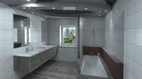 3d modern bathroom model