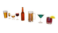 drinking glasses 3d model