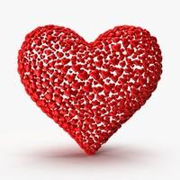 3d heart 3