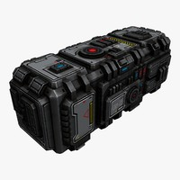 Sci-Fi Space Cargo Container 1