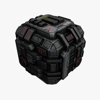 Sci-Fi Space Cargo Container 2