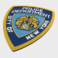 nypd police department logo 3d 3ds