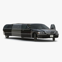 stretch car limousine black max