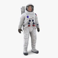 astronaut nasa wearing spacesuit 3d max