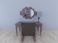 3d model of wall mirror