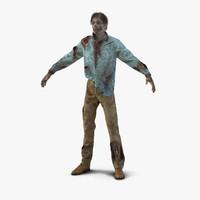 zombie hair 3d model
