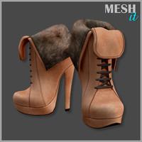 3d model boots