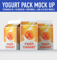 yogurt carton 3 3d c4d