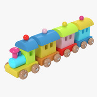 wooden train toy 3d ma