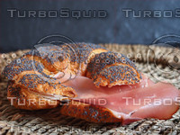 Croissant with bacon